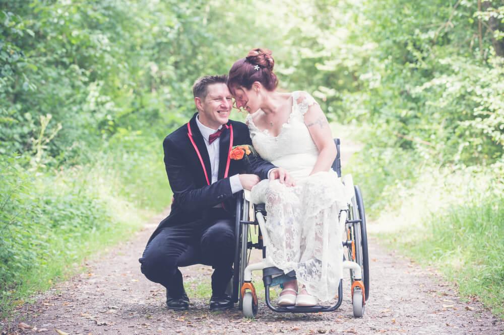 Hochzeitsfotos Rollstuhl